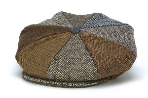 Mens and Ladies Donegal Tweed Eight Piece Newsboy Cap WBHH11J