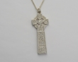 Sterling Silver Ogham Drumcliffe High Cross Pendant WBFXP54SIL