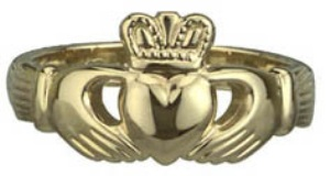 14k Gold Claddagh Ring WBS2269