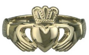 14k Gold Mens Claddagh Ring WBS2270