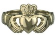 14k Gold Men's Claddagh Ring WBS2270