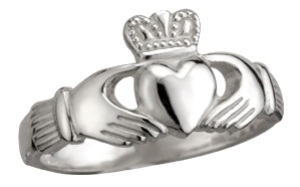 Sterling Silver Claddagh Ring WBS2271