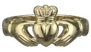 14k Gold Claddagh Ring WBS2542