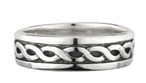 Ladies Sterling Silver Celtic Ring WBS2648