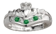 Ladies Sterling Silver Wishbone Claddagh Ring WBS2751