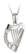 Sterling Silver Harp Pendant WBS44026