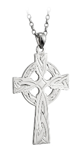 Sterling Silver Celtic Cross Pendant WBS4731