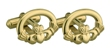 18k Gold Plated Claddagh Cuff Links WBS6412