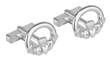 Rhodium Plated Claddagh Cuff Links WBS6451