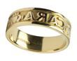 Men's 14k Gold Mo Anam Cara (My Soul Mate) Wedding Band WBWED184