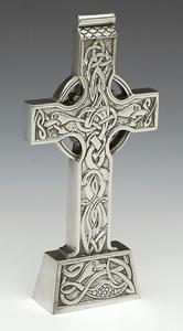 Wedding Pewter Standing Celtic Cross WBP230