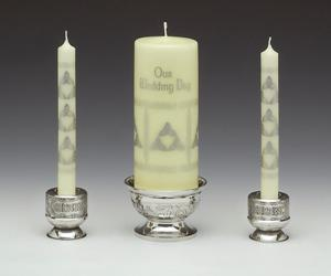 Wedding Pewter 3 piece Unity Candle Holder (candles not included) WBP233CEL