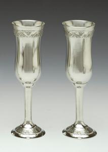 Wedding Pewter Champagne Flute Set with Celtic Design WBQ3L
